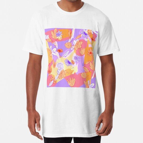Happy Flowers Long T-Shirt