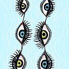 Creepy Weird Eye Garlands by Boriana Giormova