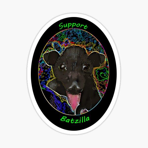 Batzilla- Batty about Bright Colors!  Sticker