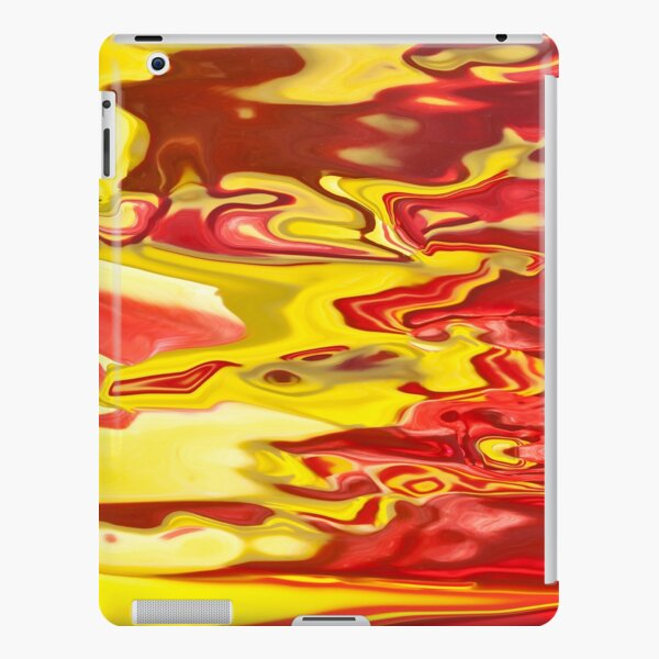red and yellow flow iPad Snap Case