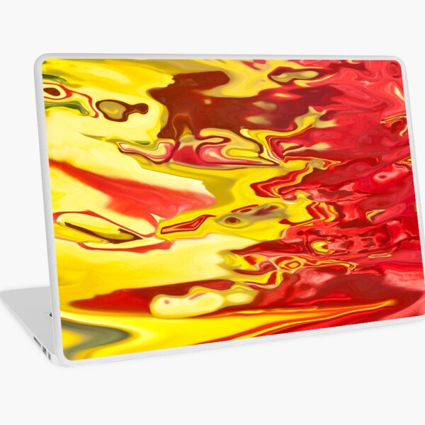red and yellow flow Laptop Skin