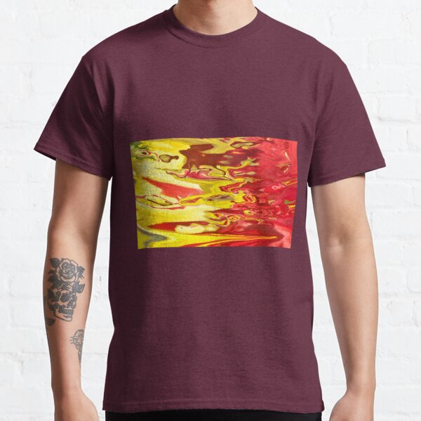 red and yellow flow Classic T-Shirt