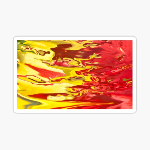 red and yellow flow Sticker