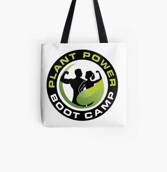 Plant Power Boot Camp All Over Print Tote Bag