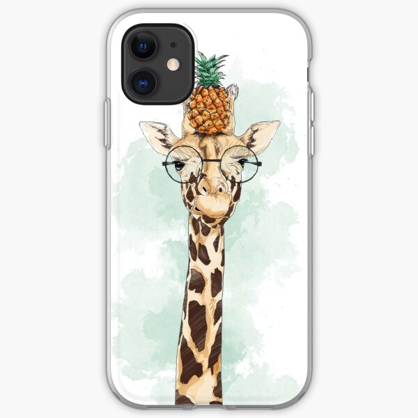 Pineapple Giraffe iPhone Soft Case