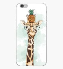 Ananas-Giraffe iPhone-Hülle & Cover