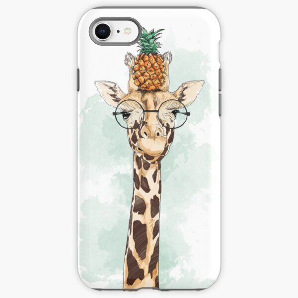 Pineapple Giraffe iPhone Tough Case