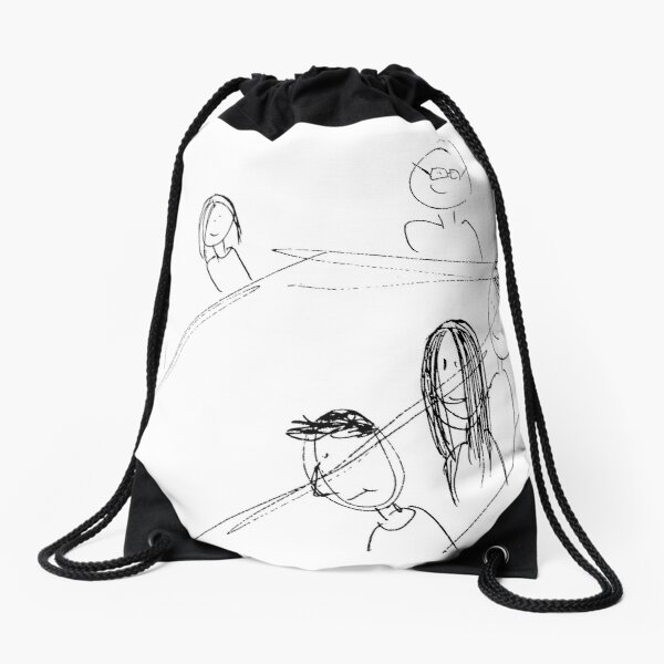 Breakfast With Friends Drawstring Bag