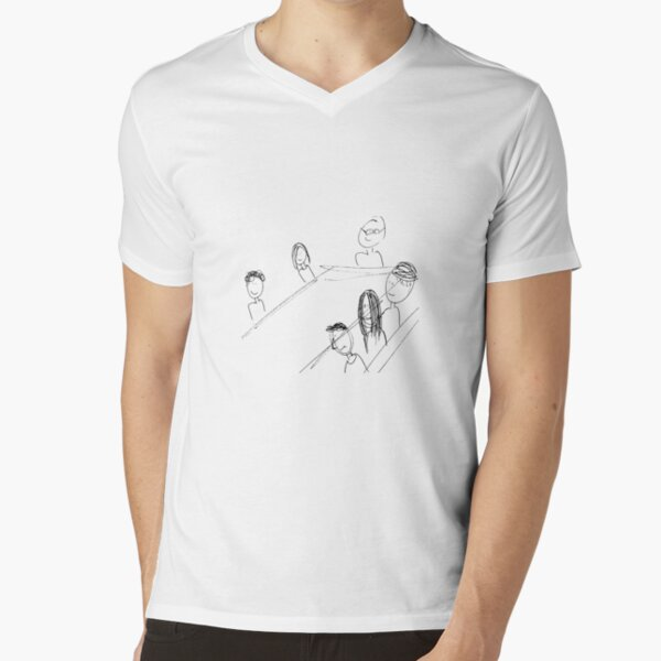 Breakfast With Friends V-Neck T-Shirt