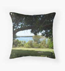 Tewantin sunny side of town Throw Pillow