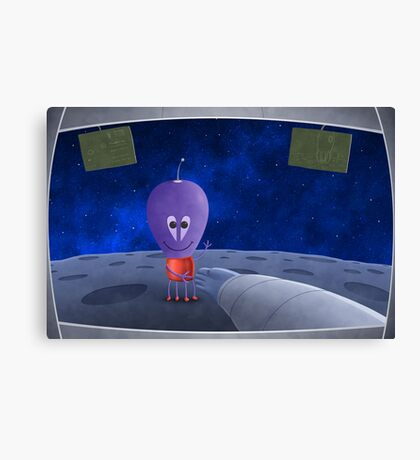 The First Man Welcoming Aliens Canvas Print