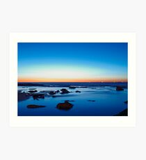 Sunrise at Susan Gilmore Beach - Newcastle, Australia Art Print