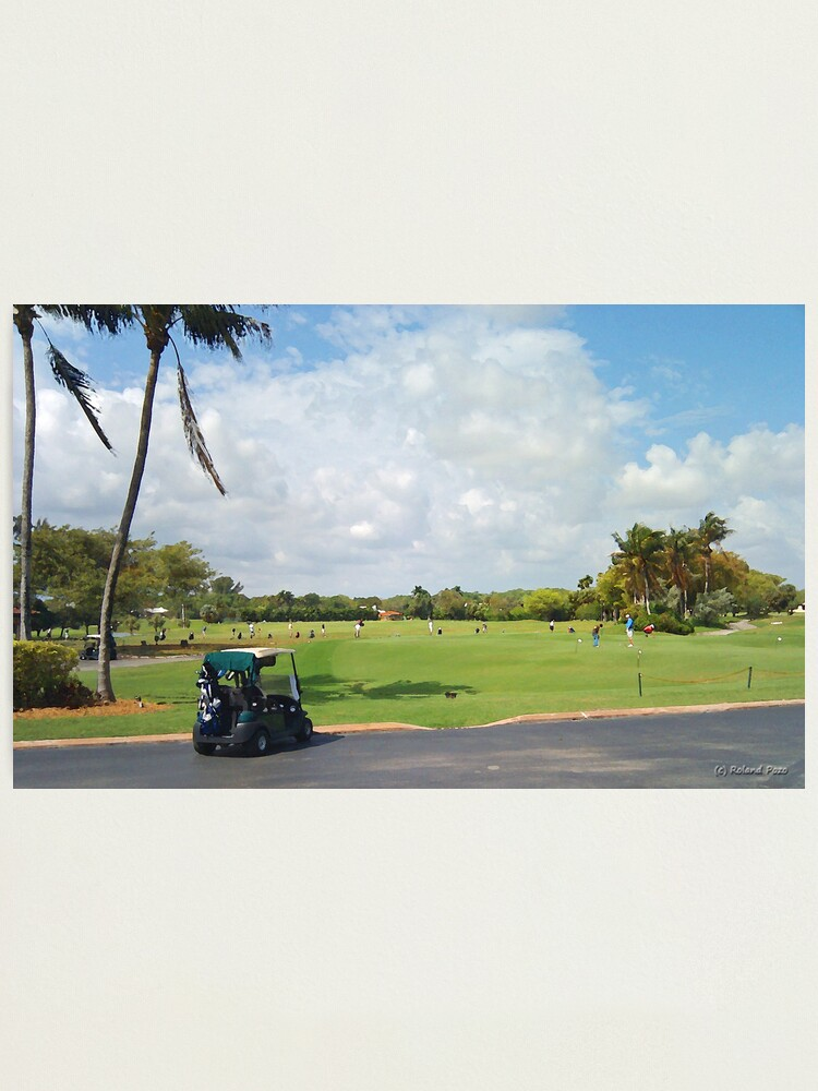 Alternate view of The Golf Car Photographic Print