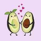 «Aguacates enamorados kawaii» de Pendientera