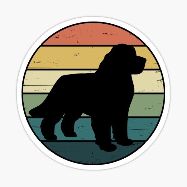 Retro Rainbow Newfoundland Dog Sticker
