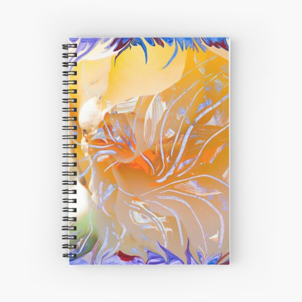 warm colors flower abstraction Spiral Notebook