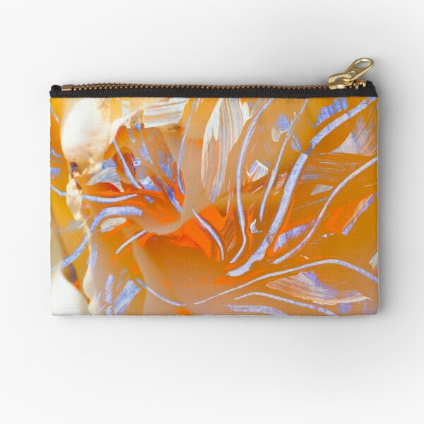 warm colors flower abstraction Zipper Pouch
