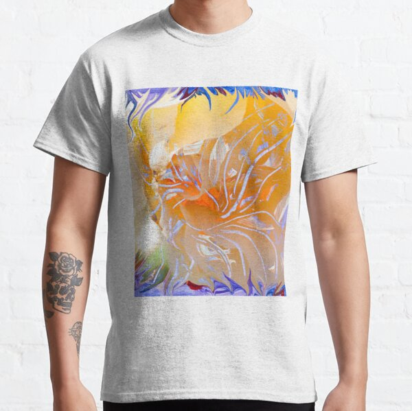 warm colors flower abstraction Classic T-Shirt