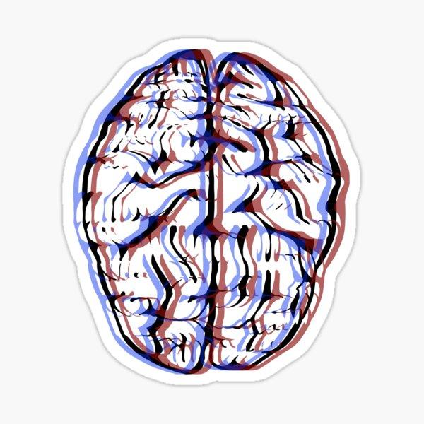 3D Brain Sticker