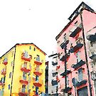 Colored buildings by Giuseppe Cocco