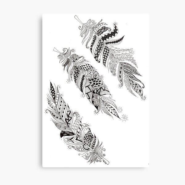 Feathers - ArtResponses Metal Print