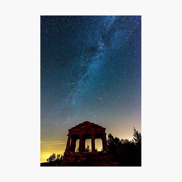 Perséides et voie lactée la nuit Impression photo