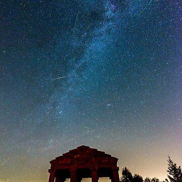 «Perséides et voie lactée la nuit» par Isenmann