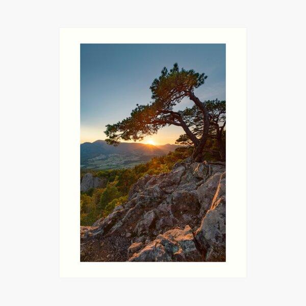 Coucher de Soleil au rocher du Hagelstein Impression artistique