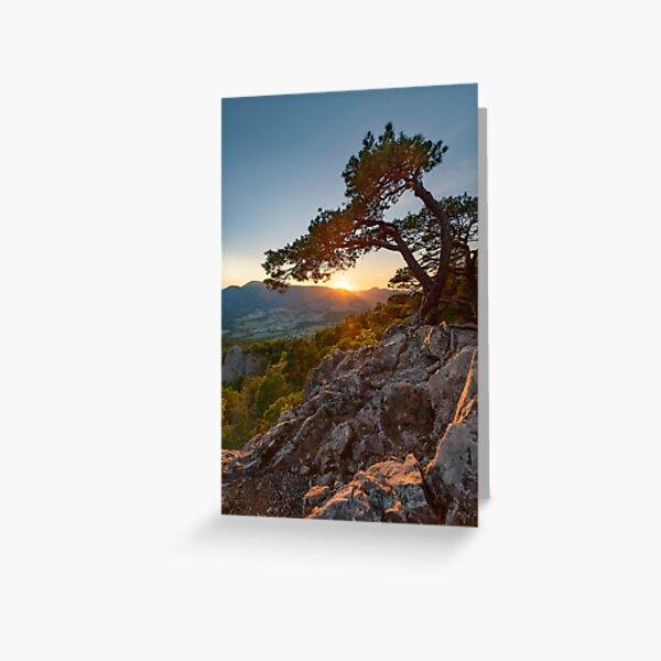Coucher de Soleil au rocher du Hagelstein Carte de vœux
