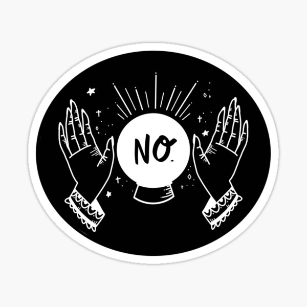 The Stars say NO, black Sticker