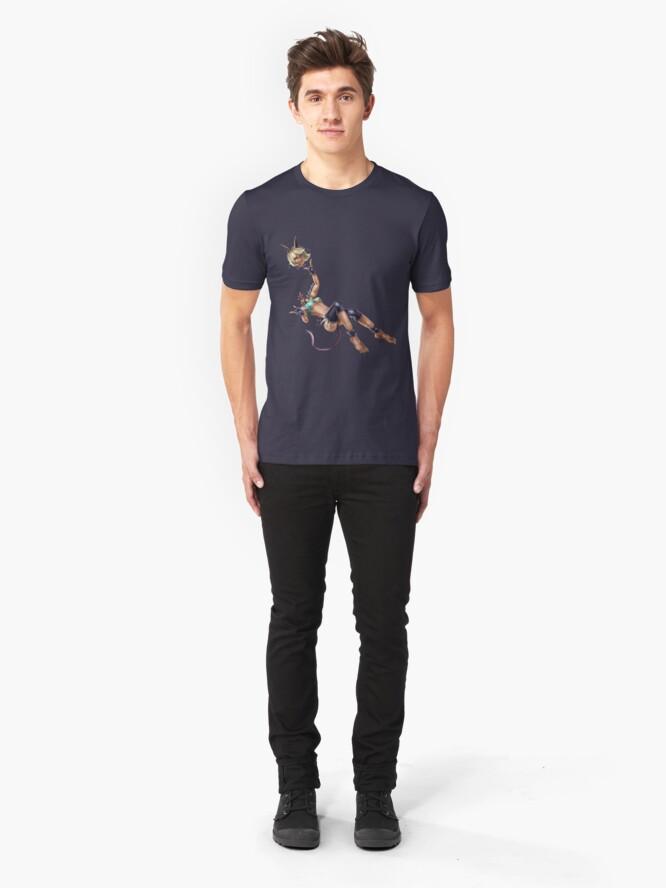 Alternate view of Monster Cat Girl Slim Fit T-Shirt