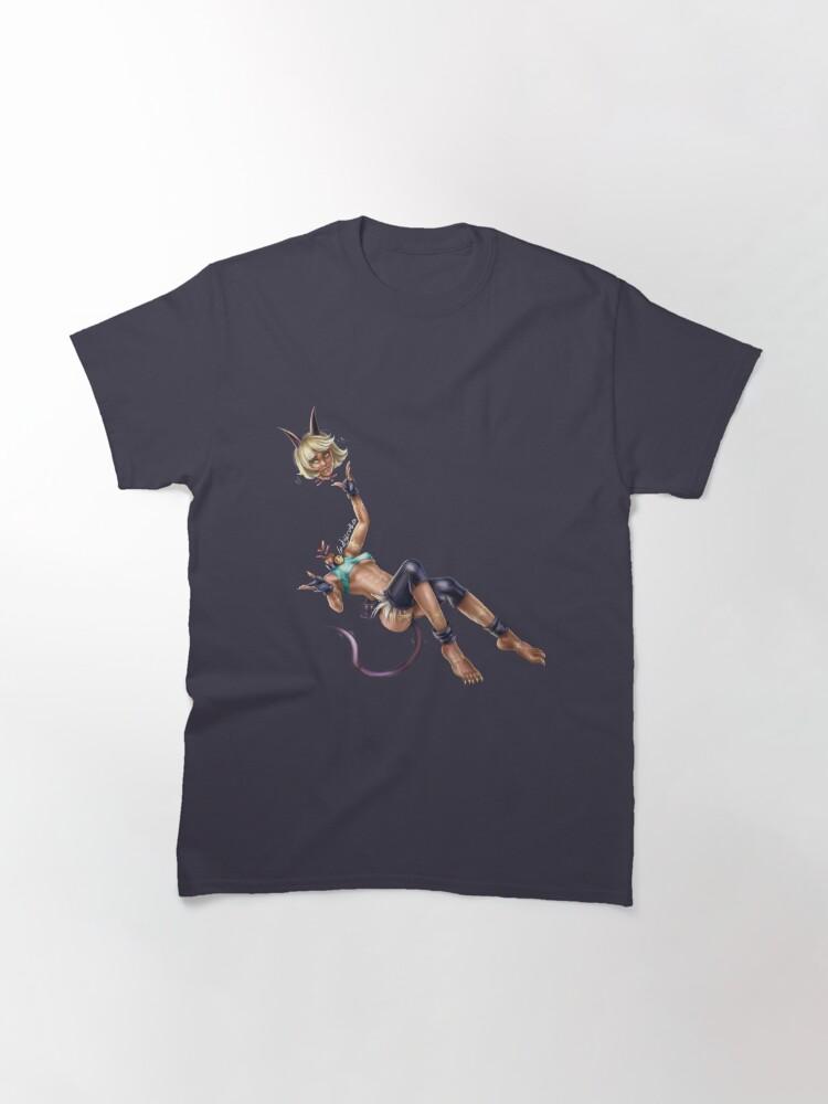 Alternate view of Monster Cat Girl Classic T-Shirt