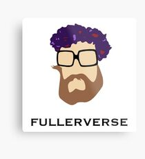 Bryan Fuller Beard & Flower Crown Metal Print