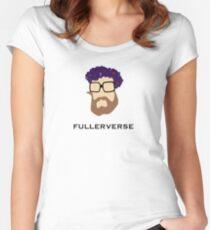 Bryan Fuller Beard & Flower Crown Women's Fitted Scoop T-Shirt