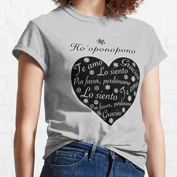 Ho´oponopono Corazón Negro Español Camiseta clásica