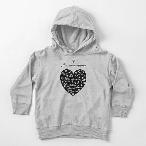 Ho´oponopono Corazón Negro Español Sudadera con capucha para bebé