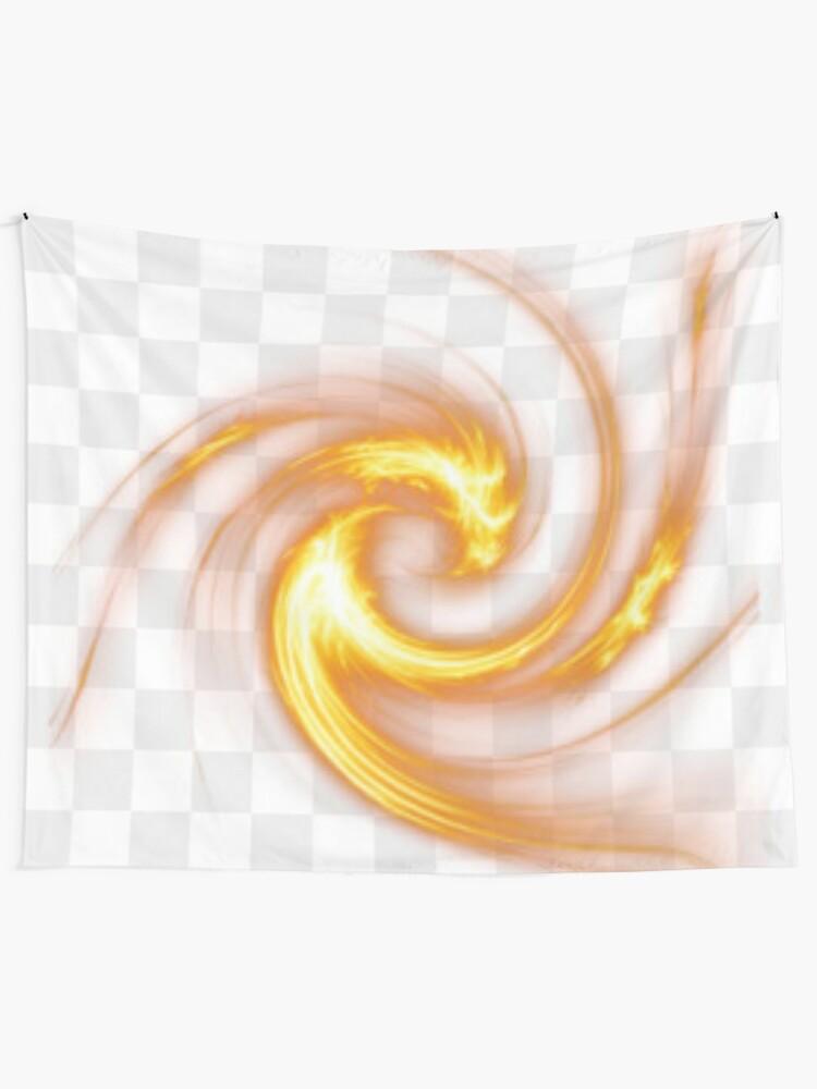 Alternate view of #Light #abstract #spiral #illustration design shape vortex art fractal motion creativity Tapestry