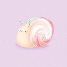 Macaron Snail by doodlecarrot