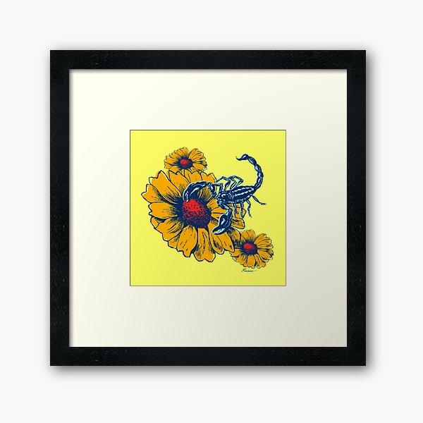 Scorpion Flowers Framed Art Print