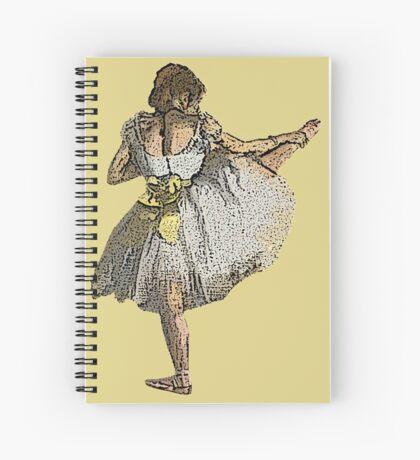 Ballet Dancer Grunge Spiral Notebook