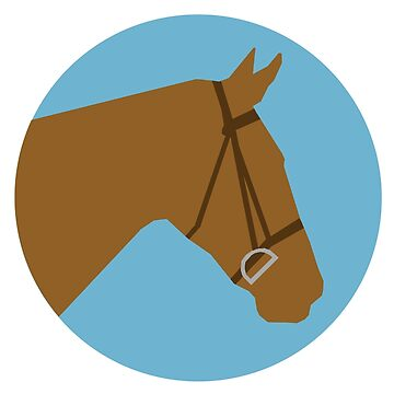 Minimalist Horse → Brown/Blue  by e-q-u-i-t-a-t-e