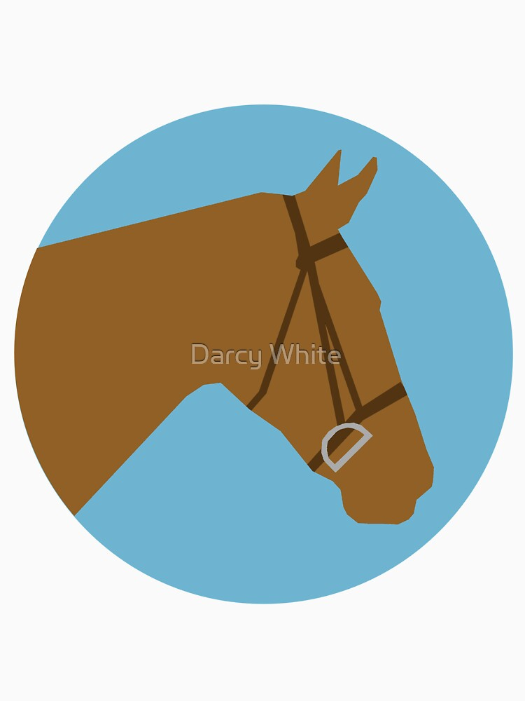 Minimalist Horse → Brown/Blue  by e-q-u-i-t-a-t-e