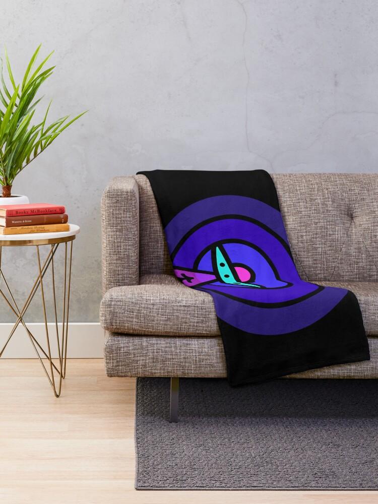 Alternate view of Aliens - Night Ver Throw Blanket