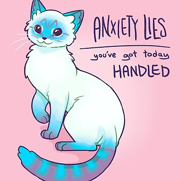 ANXIETY LIES Magical Lynx Point Siamese Cat by thelatestkate