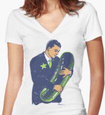Camiseta entallada de cuello en V Hold The Pickle - American Oddities # 3