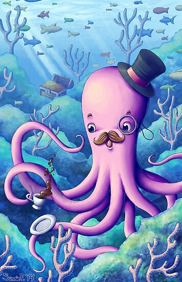 A Fancy Octopus Dilemma by BigOrangeStar