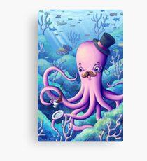 A Fancy Octopus Dilemma Canvas Print