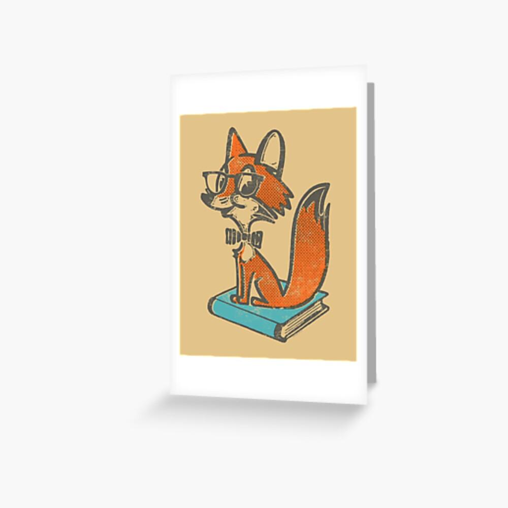 Fox Librarian Greeting Card
