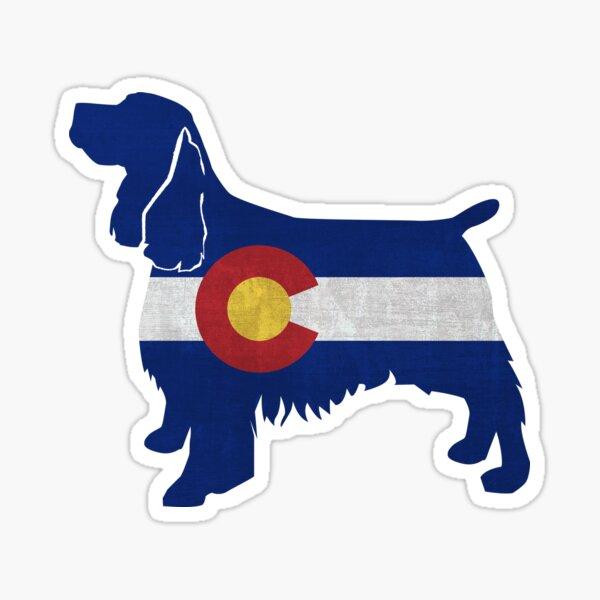 Springer Spaniel Dog Breed Colorado Flag Silhouette Sticker
