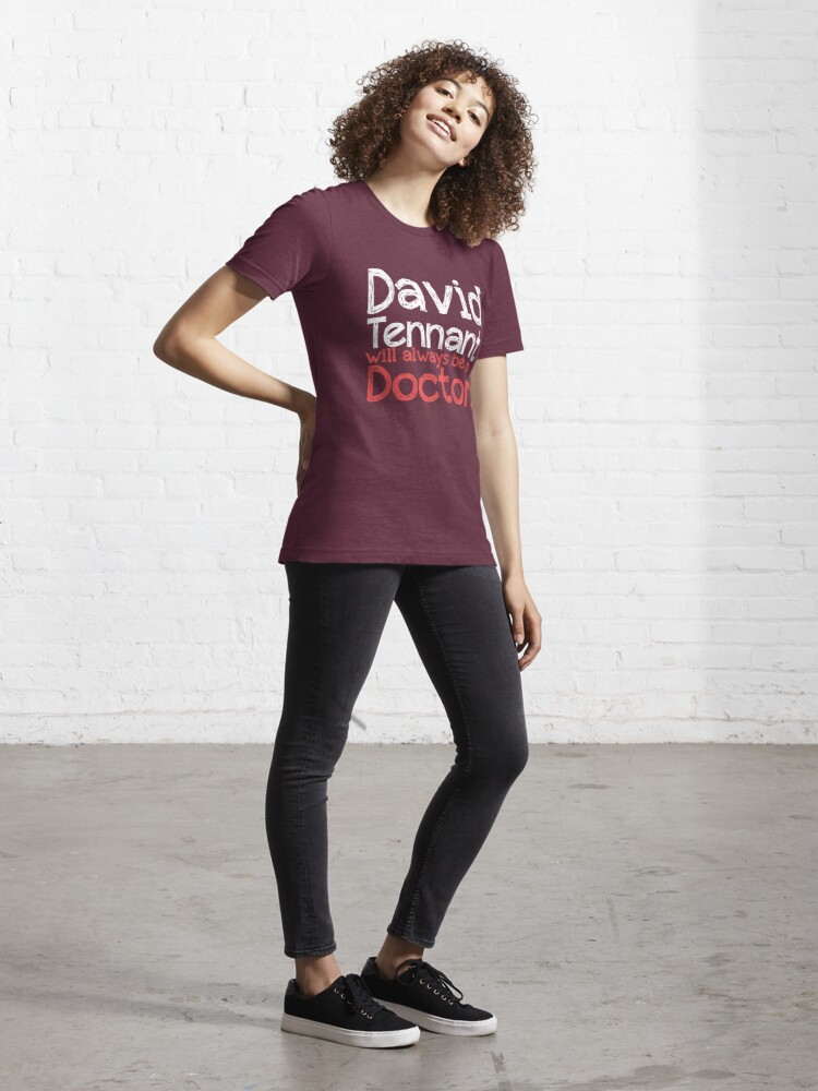 Alternate view of David Tennant will always be my Doctor - RED Essential T-Shirt